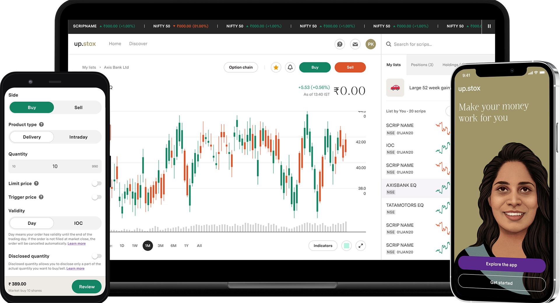 upstox - online share/stock trading, options trading, discount brokers in  india