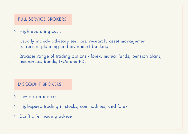 difference between traditional and discount brokers